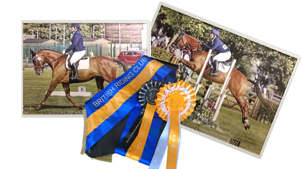 Emma and Star Team 3rd at BRC National Riding Club Championships in Lincoln
