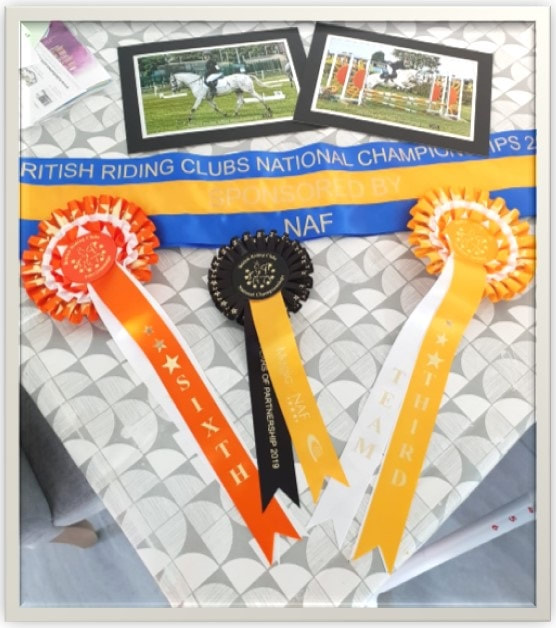 Katie and SeaLord individual 6th and Team 3rd at BRC National Riding Club Championships in Lincoln