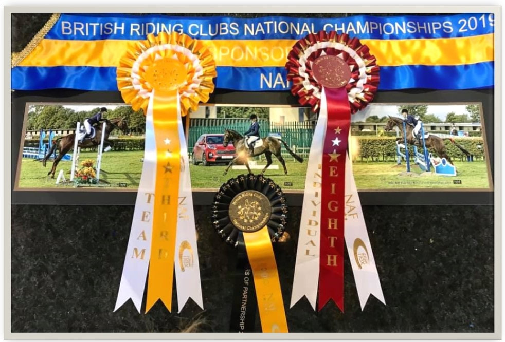 Kaye and Cara Team 3rd at BRC National Riding Club Championships in Lincoln